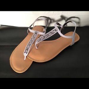 Cute light blue sandals